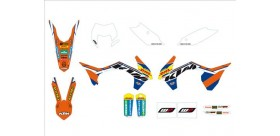 Kit gráfico de enduro Factory