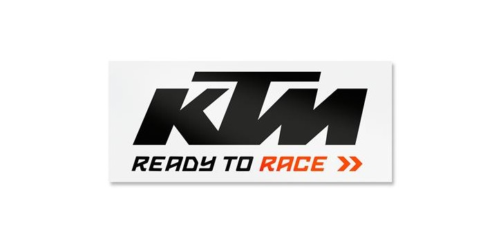 VAN STICKER BLACK/WHITE KTM