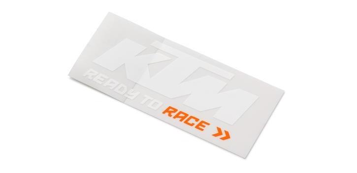LOGO STICKER WHITE/ORANGE KTM