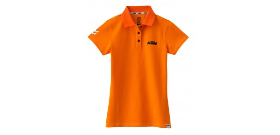 GIRLS RACING POLO ORANGE