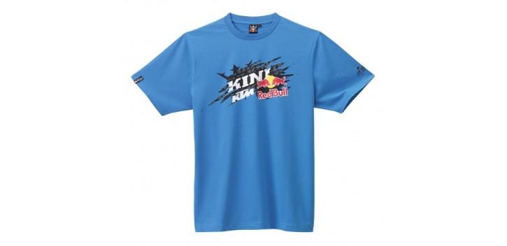 KINI-RB CHOPPED TEE BLUE KTM