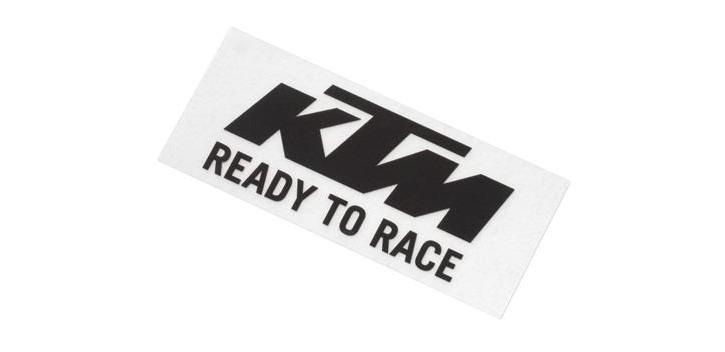 LOGO STICKER BLACK/WHITE KTM